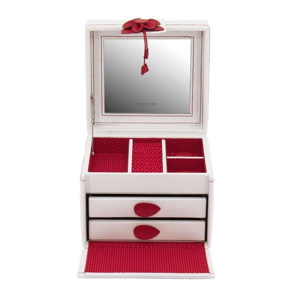 Šperkovnice Amiral Red, 15x14x13 cm