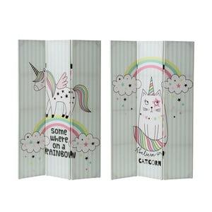 Paraván s motivem jednorožce a kočky Unimasa Uni,výška180cm