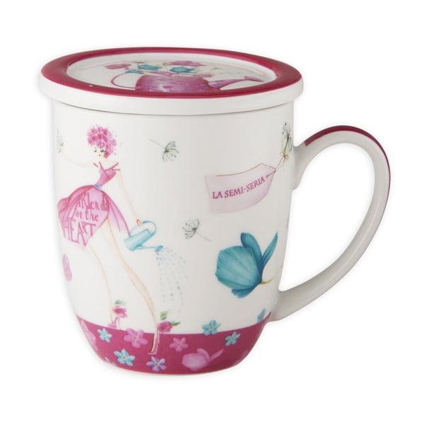 Porcelánový hrnek na čaj Ruby Tea