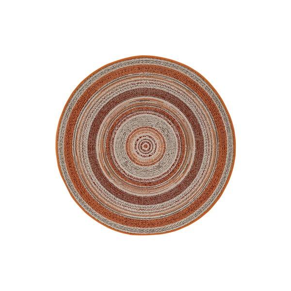 Oranžový venkovní koberec Universal Verdi, ⌀ 120 cm