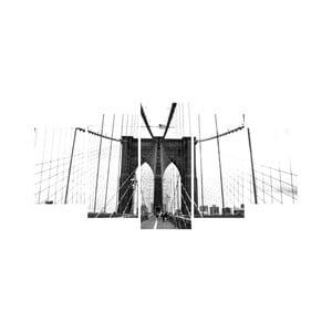Vícedílný obraz Black&White no. 50, 100x50 cm
