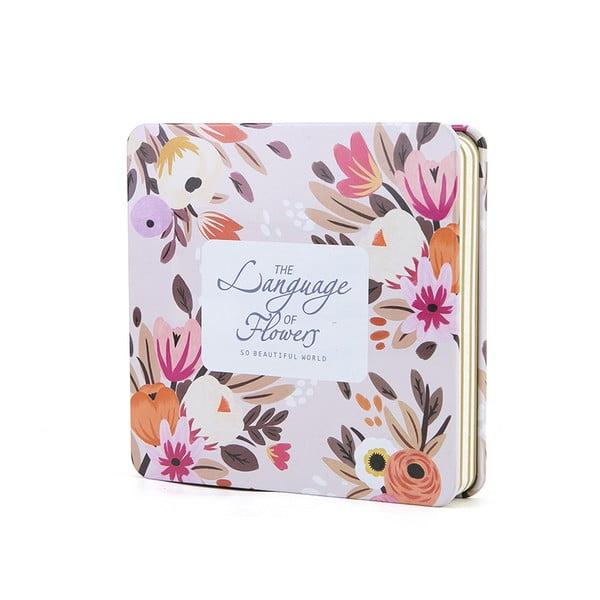 Plechový zápisník Spring, růžový