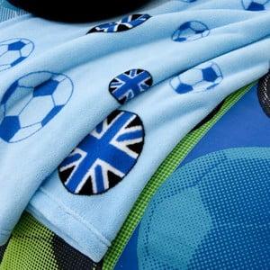 Deka Football Blue, 127x143 cm