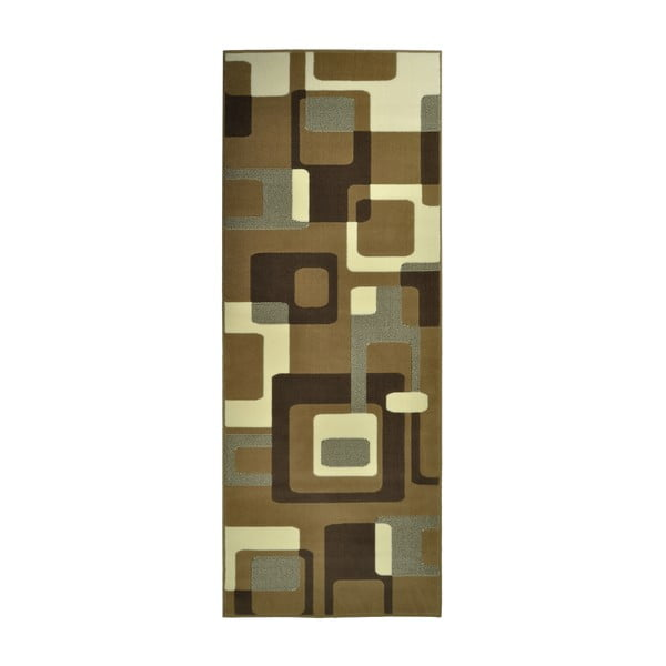 Hnědý koberec Hanse Home Hamla Retro, 80x150 cm