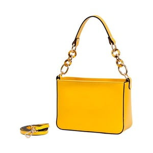 Žlutá kabelka z pravé kůže Andrea Cardone Merso