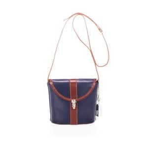 Modrá kabelka z pravé kůže Federica Bassi Kim