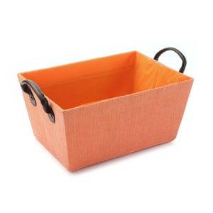 Oranžový košík s úchyty Versa Orange Handle, 30x25cm