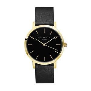 Zlatočerné dámské hodinky Rosefield The Gramercy