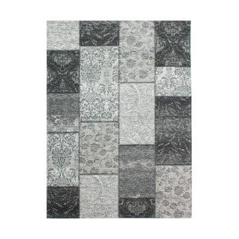 Covor Flair Rugs Patchwork Chennile Black Grey, 155 x 230 cm, gri închis de la Flair Rugs