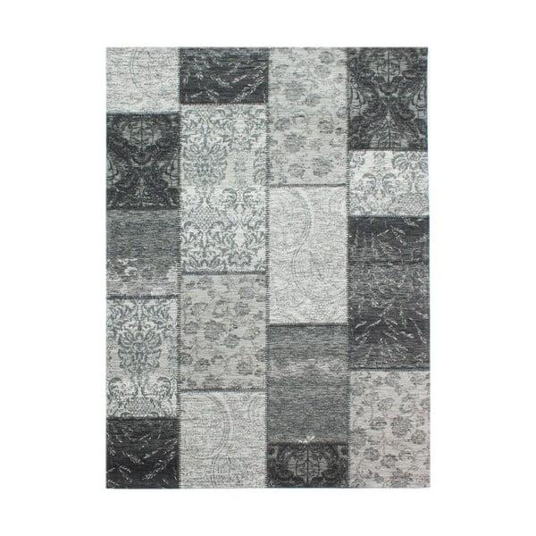 Covor Flair Rugs Patchwork Chennile Black Grey, 120 x 170 cm, gri închis