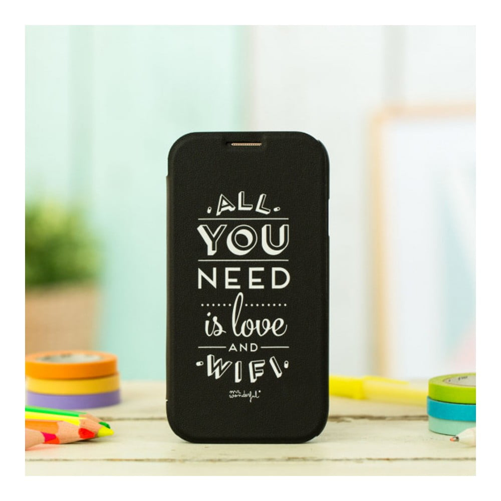 Černý obal na Samsung Galaxy S4 Mr. Wonderful Love