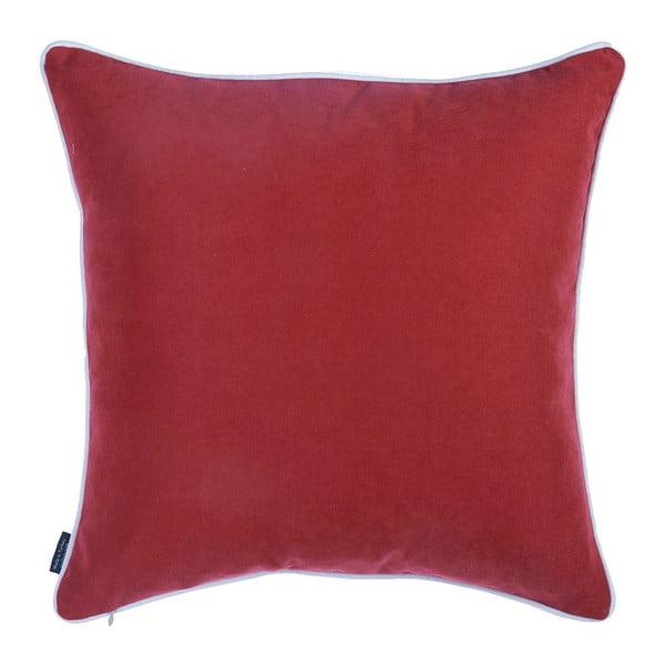Červený povlak na polštář s vánočním motivem Apolena Honey Snowflake, 45 x 45 cm