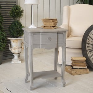 Stůl se zásuvkou Gris Antiquaire