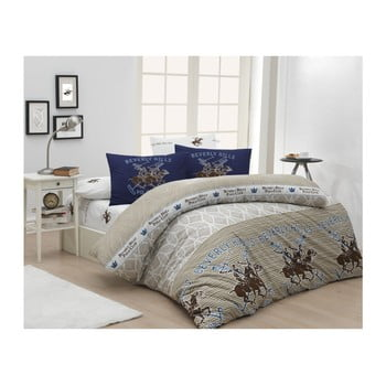 Lenjerie de pat cu cearșaf Beverly Hills Polo Club Ibson, 200 x 220 cm de la Beverly Hills Polo Club