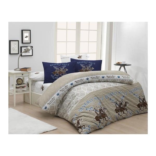 Lenjerie de pat cu cearșaf Beverly Hills Polo Club Ibson, 200 x 220 cm