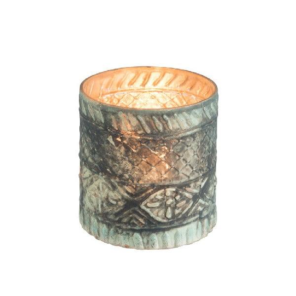 Suport din sticlă pentru lumânare J-Line Boho Cylinder, ⌀ 10 cm