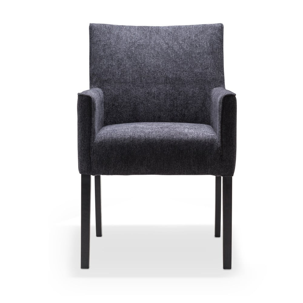 Černá jídelní židle s područkami a nohami z dubového dřeva Mossø Gatora