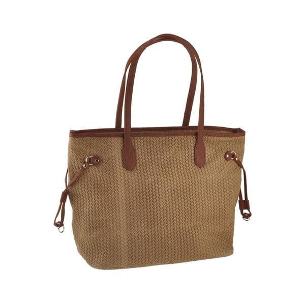 Hnědá kožená kabelka Florence Merga