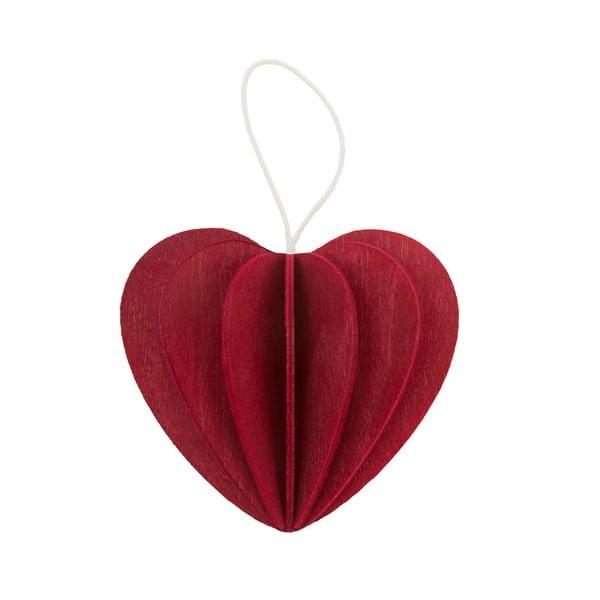 Skládací pohlednice Heart Bright Red, 6.8 cm