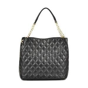 Černá kožená kabelka Anna Luchini Foolio