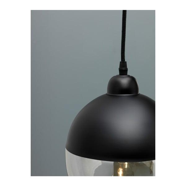 Černé závěsné svítidlo Design Twist Caracol Round