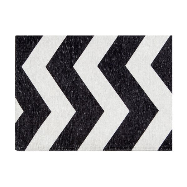 Vysoce odolný kuchyňský běhoun Webtappeti Optical Black White,130x190cm