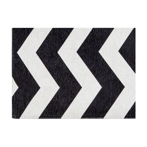 Vysoce odolný kuchyňský koberec Webtappeti Optical Black White,60x220cm
