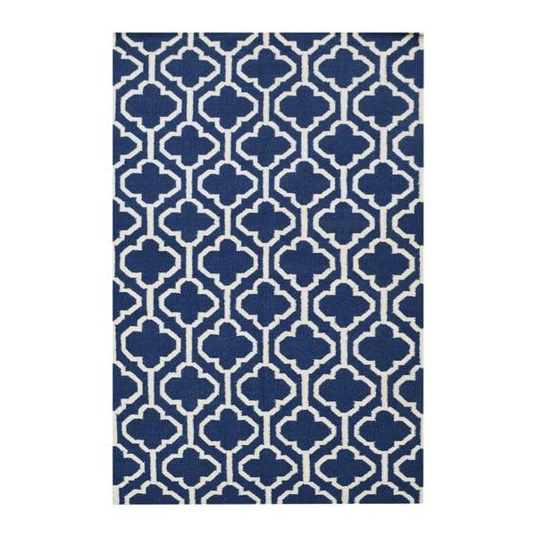 Vlněný koberec Penelope Blue, 140x200 cm