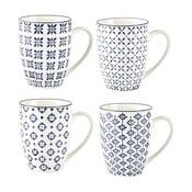 Sada 4 keramických hrnků Villa Collection Pattern Classic, 350ml