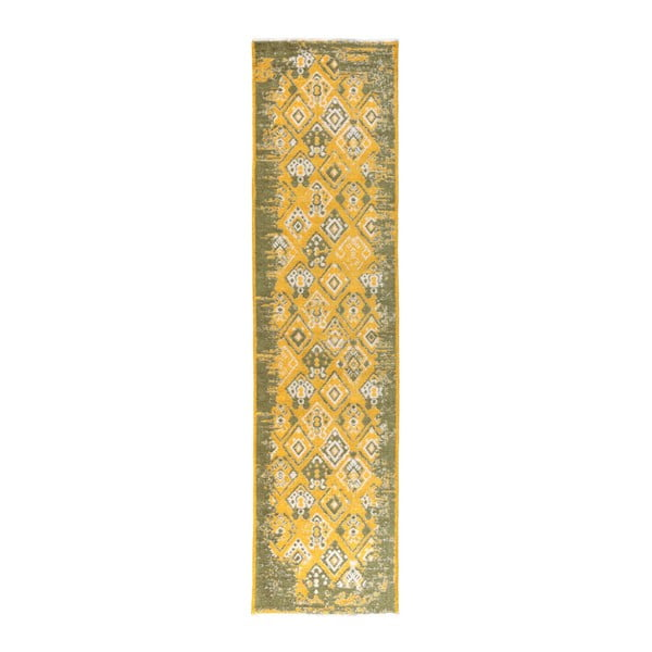 Covor reversibil Homemania Halimod Maleah, 300 x 75 cm, galben-verde