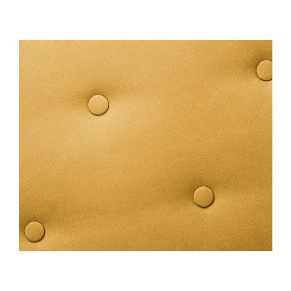 Tmavě žlutá trojmístná pohovka Scandi by Stella Cadente Maison MaisonConstellation, levý roh