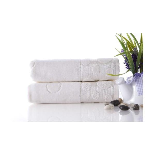 Set dvou ručníků Tropical Ecru, 50x90 cm