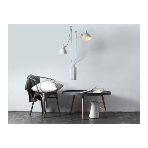 Bílá nástěnná lampa pro 2 žárovky Custom Form Coben
