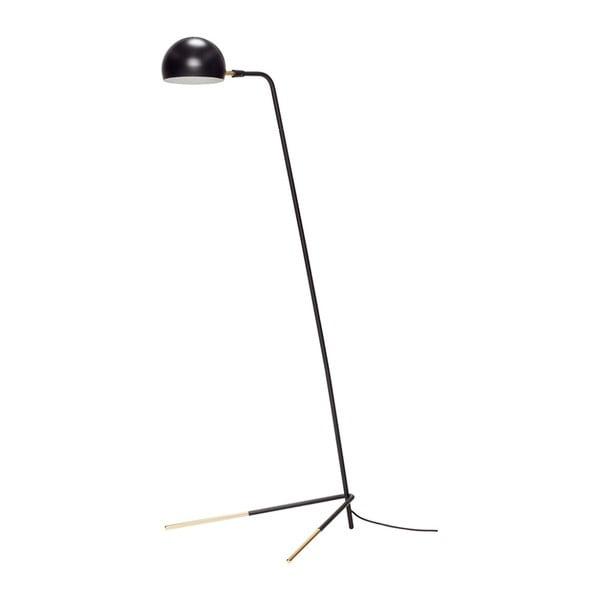 Čierna stojacia lampa Hübsch Stephan