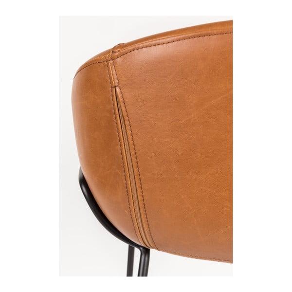 Sada 2 hnědých barových židlí Zuiver Feston, výška sedu 76cm