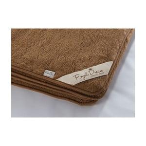 Tmavě hnědá deka z merino vlny Royal Dream, 90x200cm