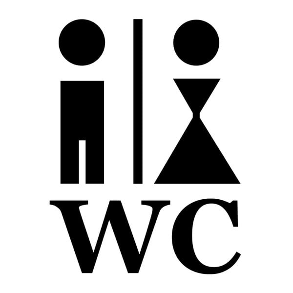 Samolepka Man and Woman WC