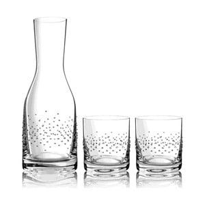 Sada karafy a 2 sklenic Tropea se Swarovski Elements v luxusním balení