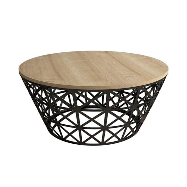 Odkládací stolek Stil Oak, ⌀90cm