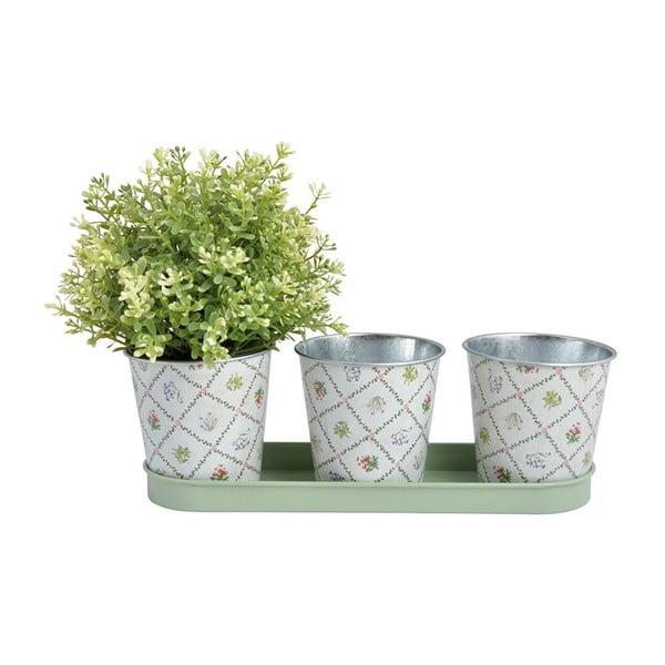 Sada 3 květináčků EsschertDesignBotanica