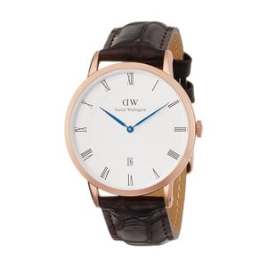 Dámské hodinky s černým páskem Daniel Wellington York Rose, ⌀38mm