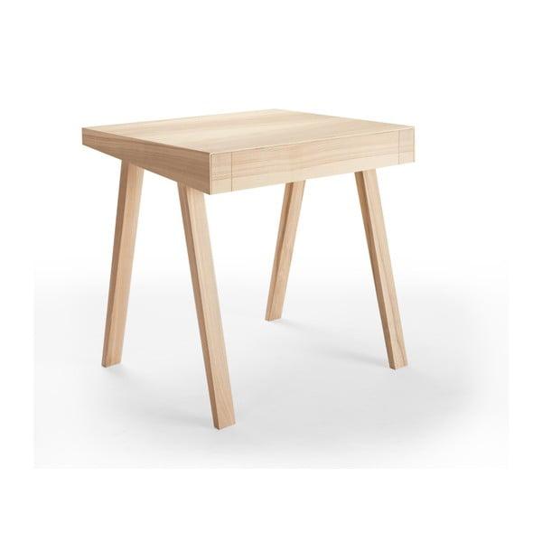 4.9 litván kőrisfa íróasztal, 1 fiókos - EMKO