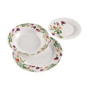 18dílná sada procelánových talířů s dekorativním motivem VERSA Florian