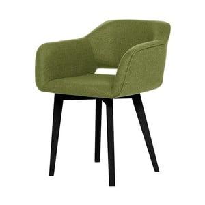 Zelená jídelní židle s černými nohami My Pop Design Oldenburg