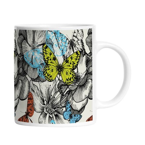 Keramický hrnek Beautiful Butterflies, 330 ml