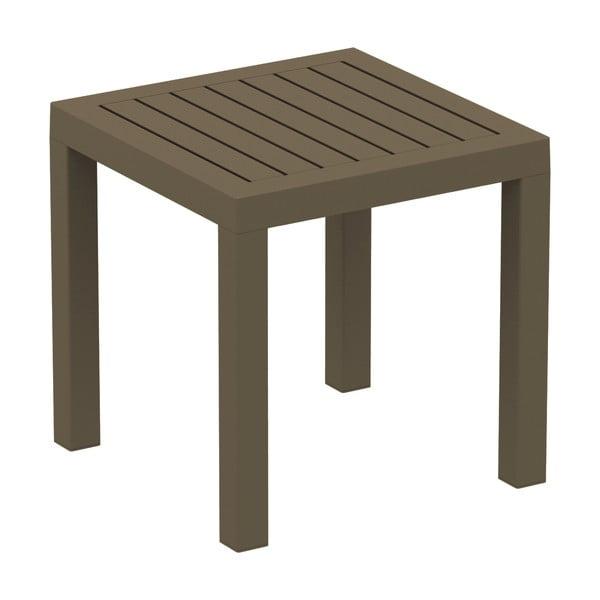 Hnedý záhradný odkladací stolík Resol Ocean, 45 x 45 cm
