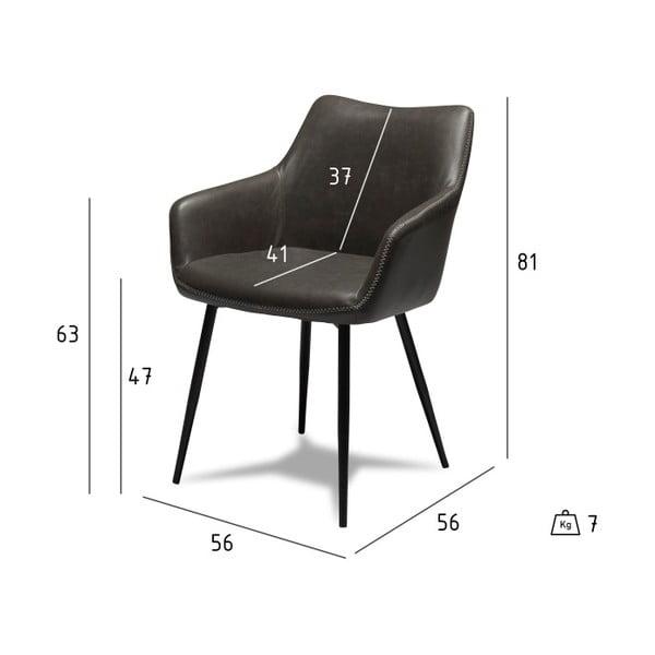 Sada 2 šedých židlí Furnhouse Maria