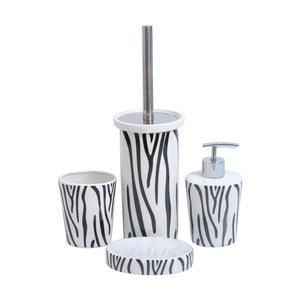 Sada 4ks koupelnových doplňků Zebra