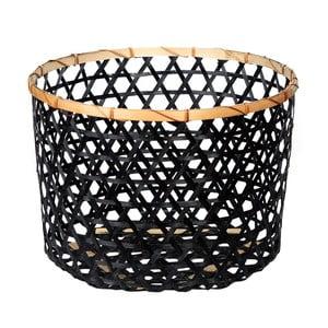 Černý bambusový košík a'miou home Shadows, ⌀ 44cm