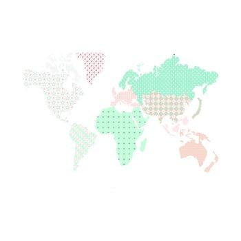 Autocolant pentru perete Dekornik Map Pastel de la Dekornik